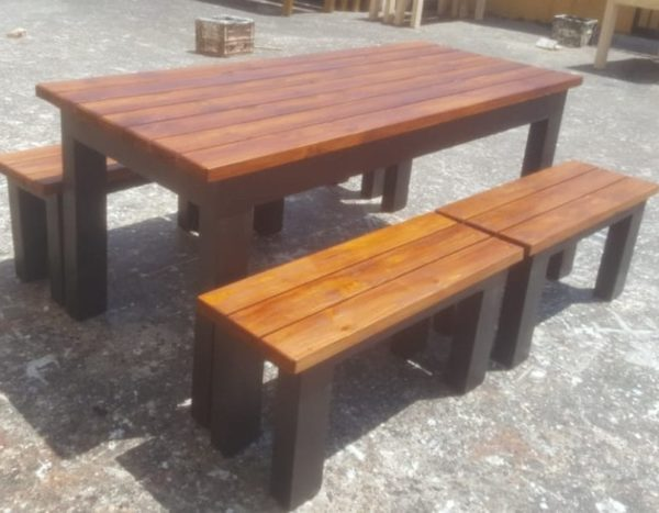 Teak Grey Patio Table