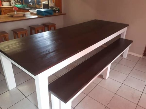 Ebony Table and benches