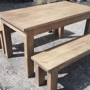 Moon Grey Kelly Table and Benches
