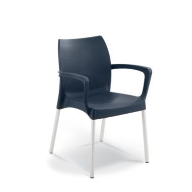 Milan Dining Chair Dark Bluw